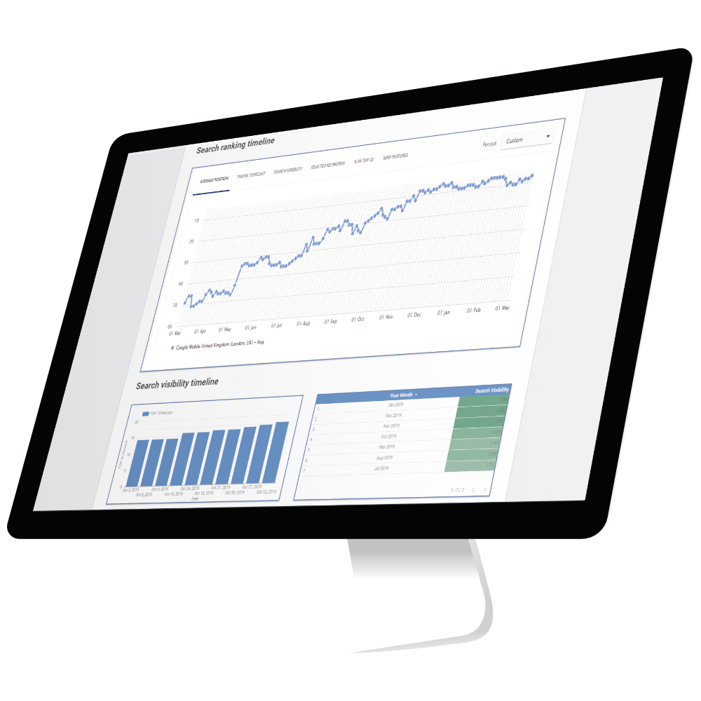 Computer Screen With Marketing Reports