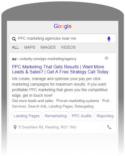 Paid Search Mobile Ad - Example
